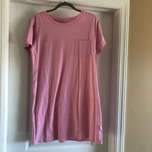 J.Crew pink t-shirt dress
